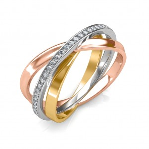 Multi color gold Ring