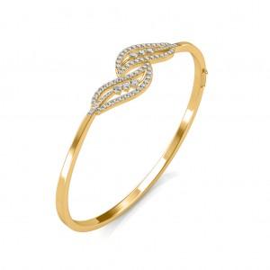 Twin Leaf Diamond Bracelet