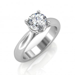 0.30 carat 18K White Gold - Classic Engagement Ring