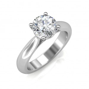0.70 carat 18K White Gold - Classic Engagement Ring