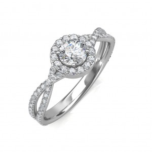 0.64 carat 18K White Gold - Zara Engagement Ring