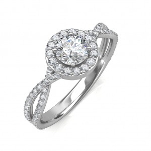0.95 carat 18K White Gold - Zara Engagement Ring