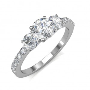 1.05 carat 18K White Gold - Eternal Love Engagement Ring