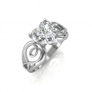 0.50 carat Platinum - Gelsey Engagement Ring