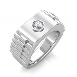 The Leopold Ring For Him - Platinum - 0.15 carat