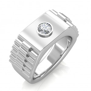 The Leopold Ring For Him - White - 0.25 carat
