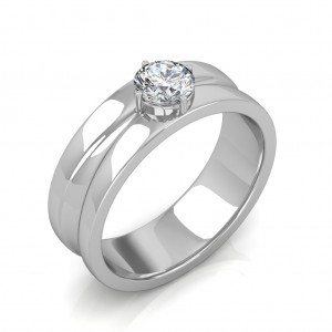The Prius Ring For Him - White - 0.90 carat