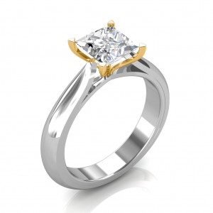 0.70 carat 18K White Gold - Serenity Engagement Ring