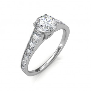 0.93 carat Platinum - Victoria Engagement Ring
