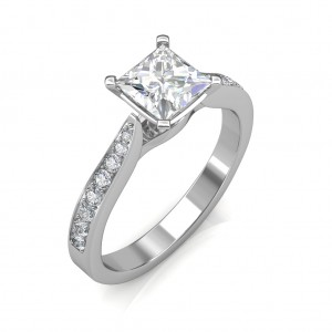 0.64 carat 18K White Gold - Ayesha Engagement Ring