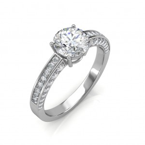 1.22 carat 18K White Gold - Zest Love Engagement Ring