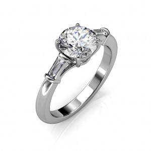 1.24 carat 18K White Gold - Laura Baguette Ring