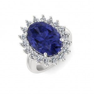 Blue Sapphire Solitaire Ring