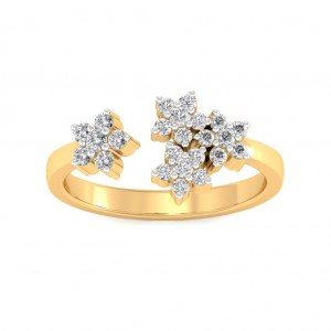 Diamond Floral Ring