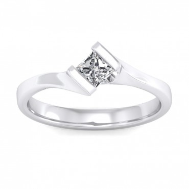 The Elegant Princess Solitaire Ring