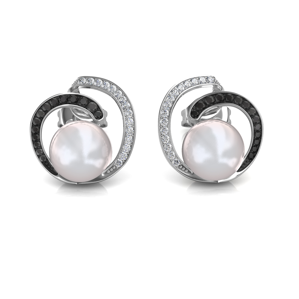 The Lucy Black Diamond Earrings Jewellery At Best Prices In India Sarvadajewels