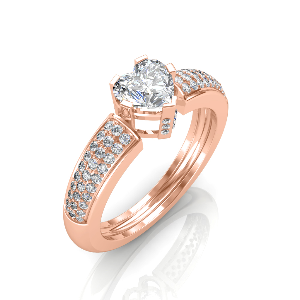 solitaire champ champagne ring catbird diamond
