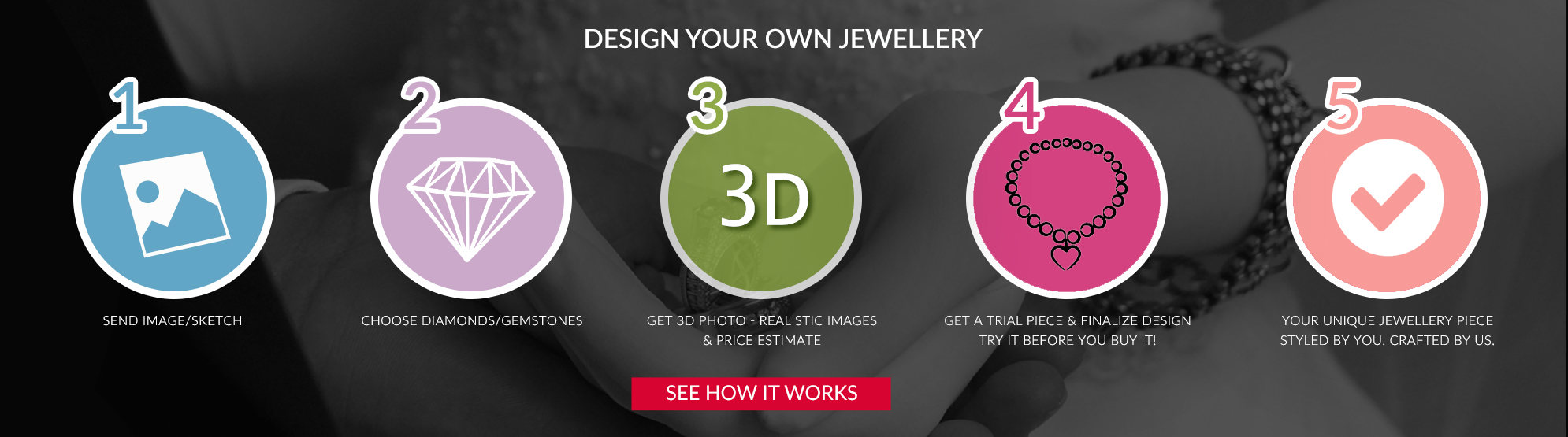 customized diamond jewellery at 40% discount