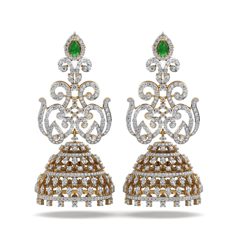 The Roksana Jhumka Earrings