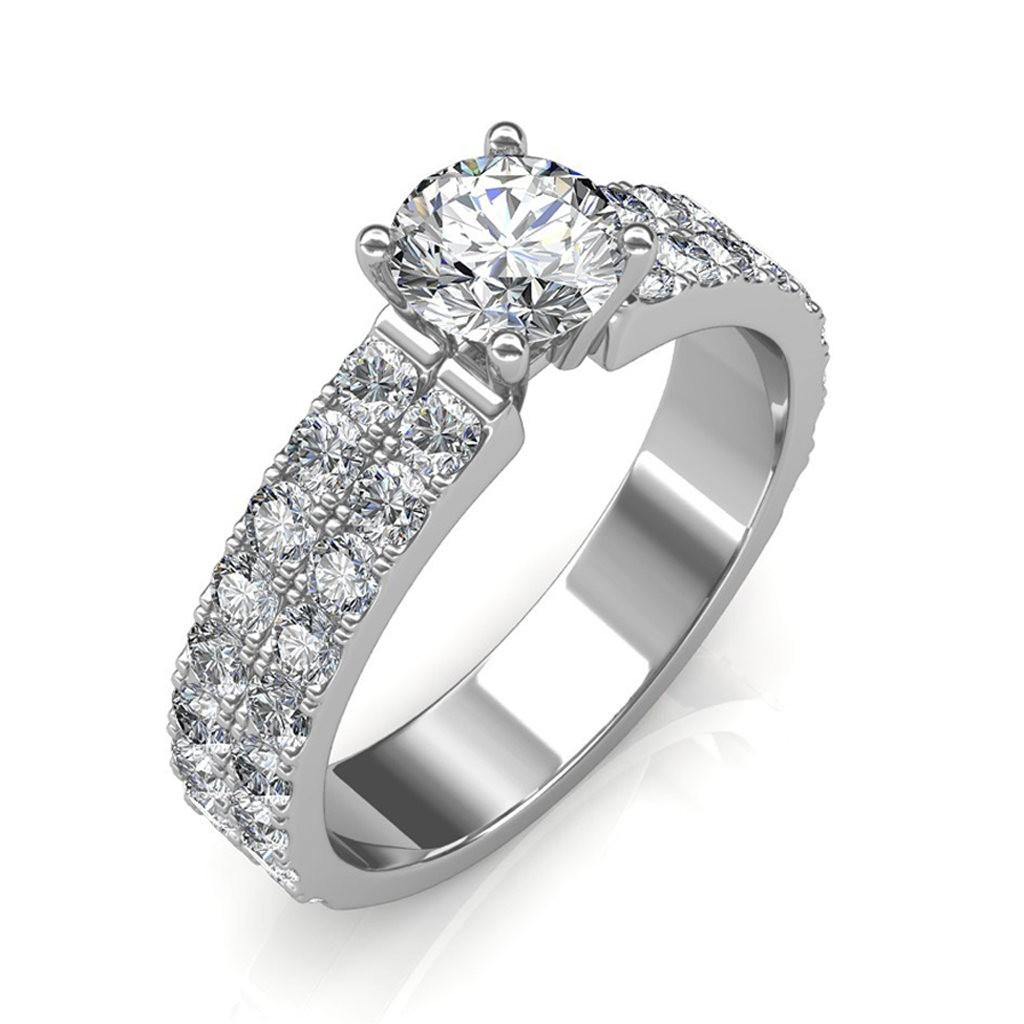 1.72 carat Platinum -Amyra Engagement Ring