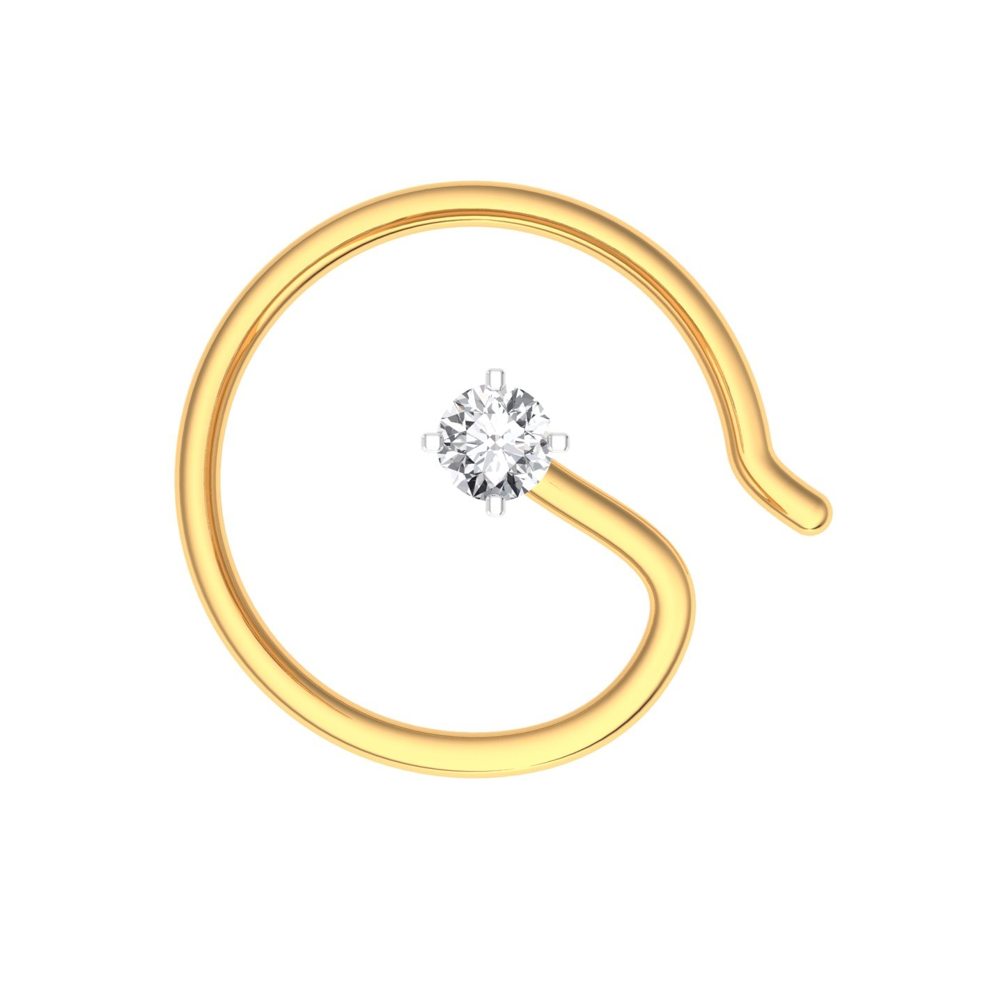 The Classic Hook Nose Pin 0 02 Carat Diamond Jewellery At Best