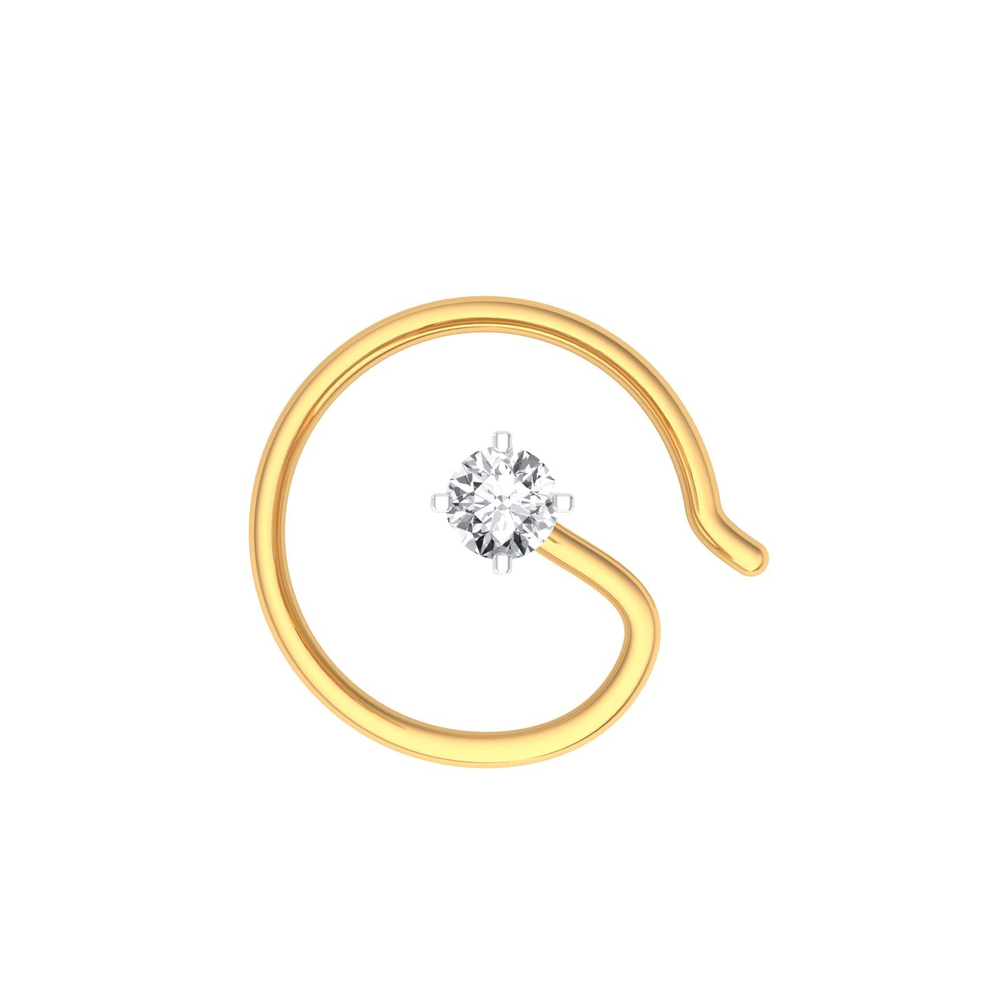 The Classic Hook Nose Pin 0 05 Carat Diamond Jewellery At Best