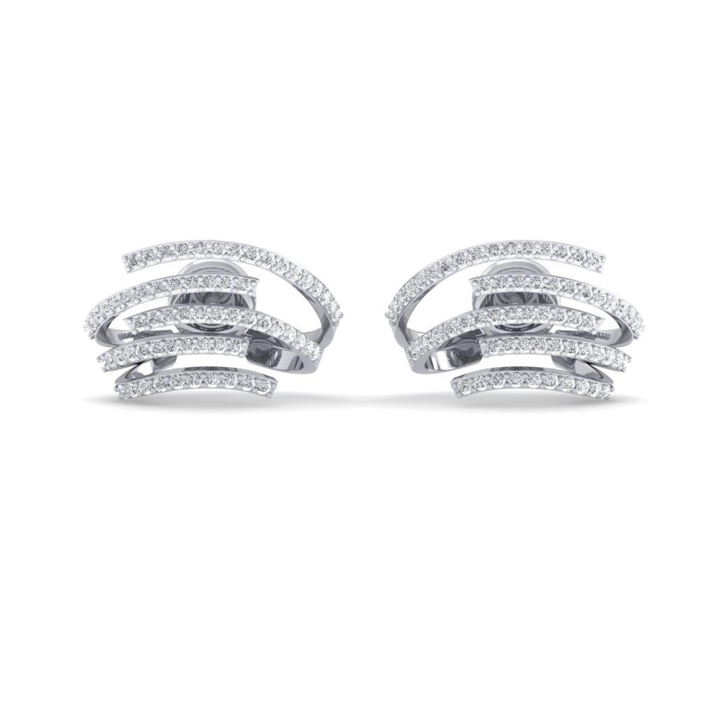 The Astra Huggie Diamond Earrings