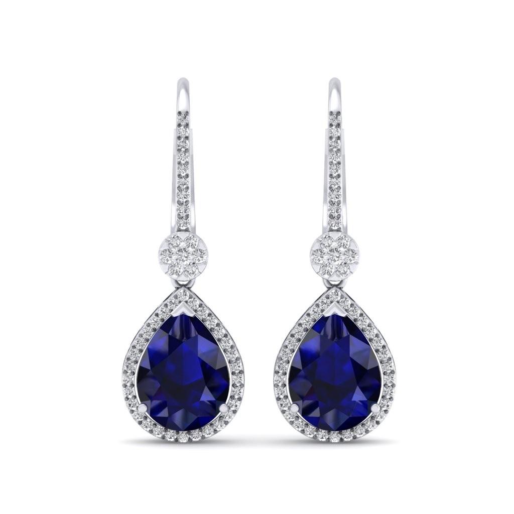 The Azure Dangler Diamond Earrings