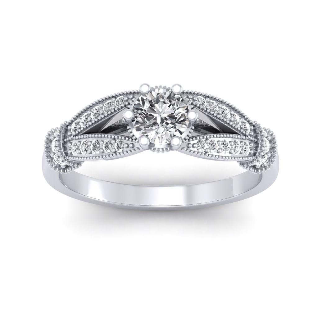 0.71 carat Platinum - Nelly Engagement Ring