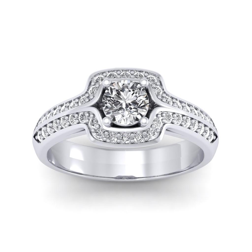 0.80 carat 18K White Gold - Amanda Engagement Ring