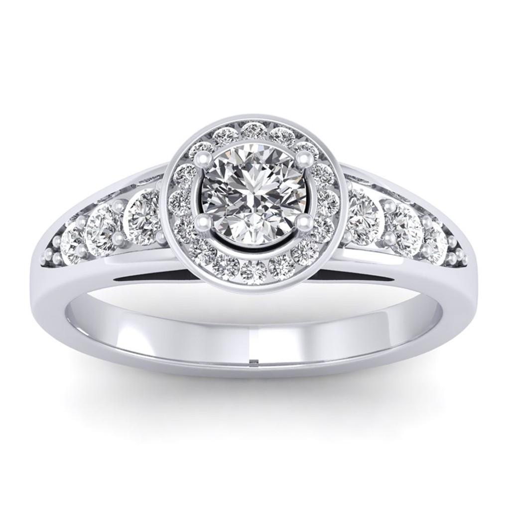 1.37 carat Platinum - Azzario Engagement Ring