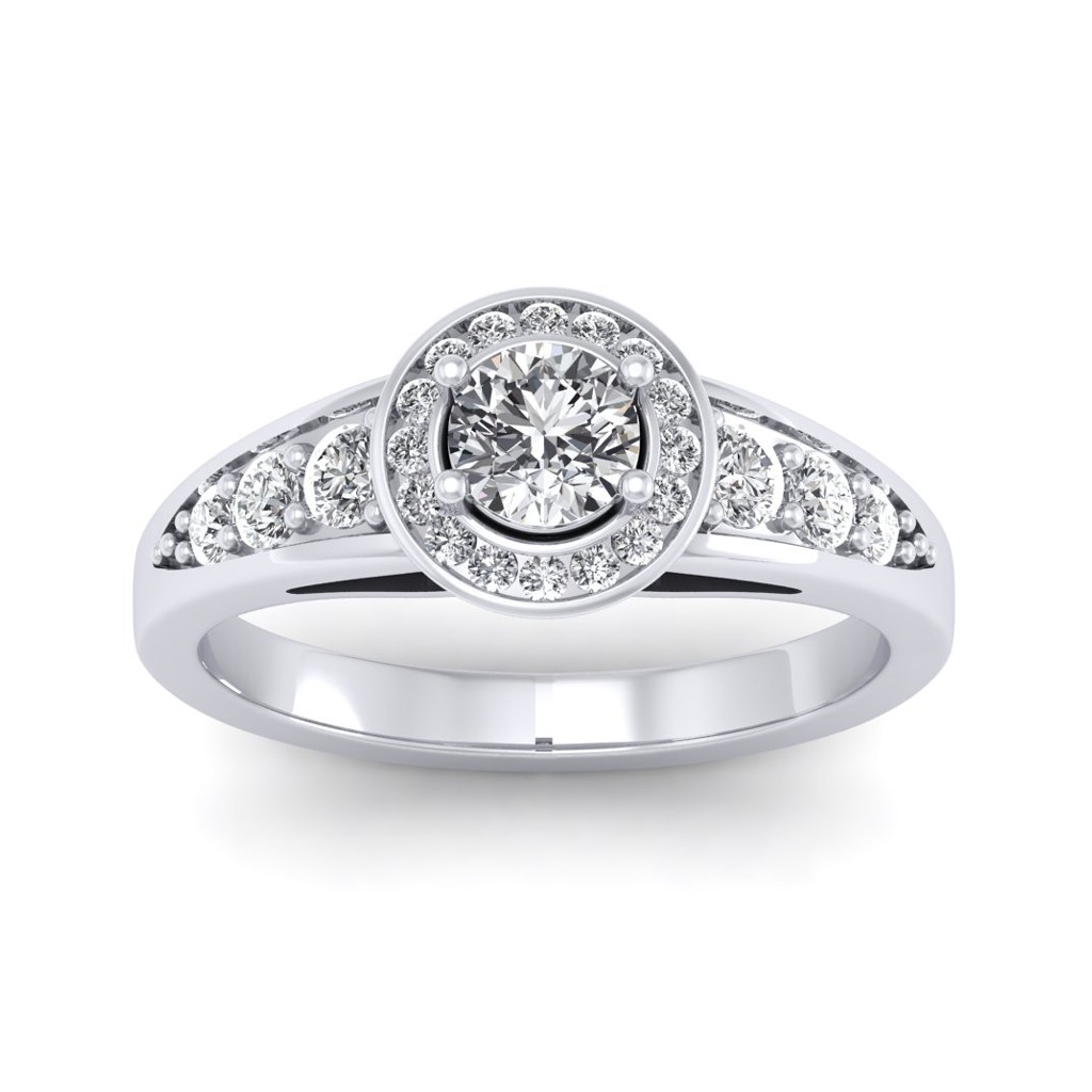 0 62 Carat 18k White Gold Azzario Engagement Ring Rings At Best Prices In India Sarvadajewels