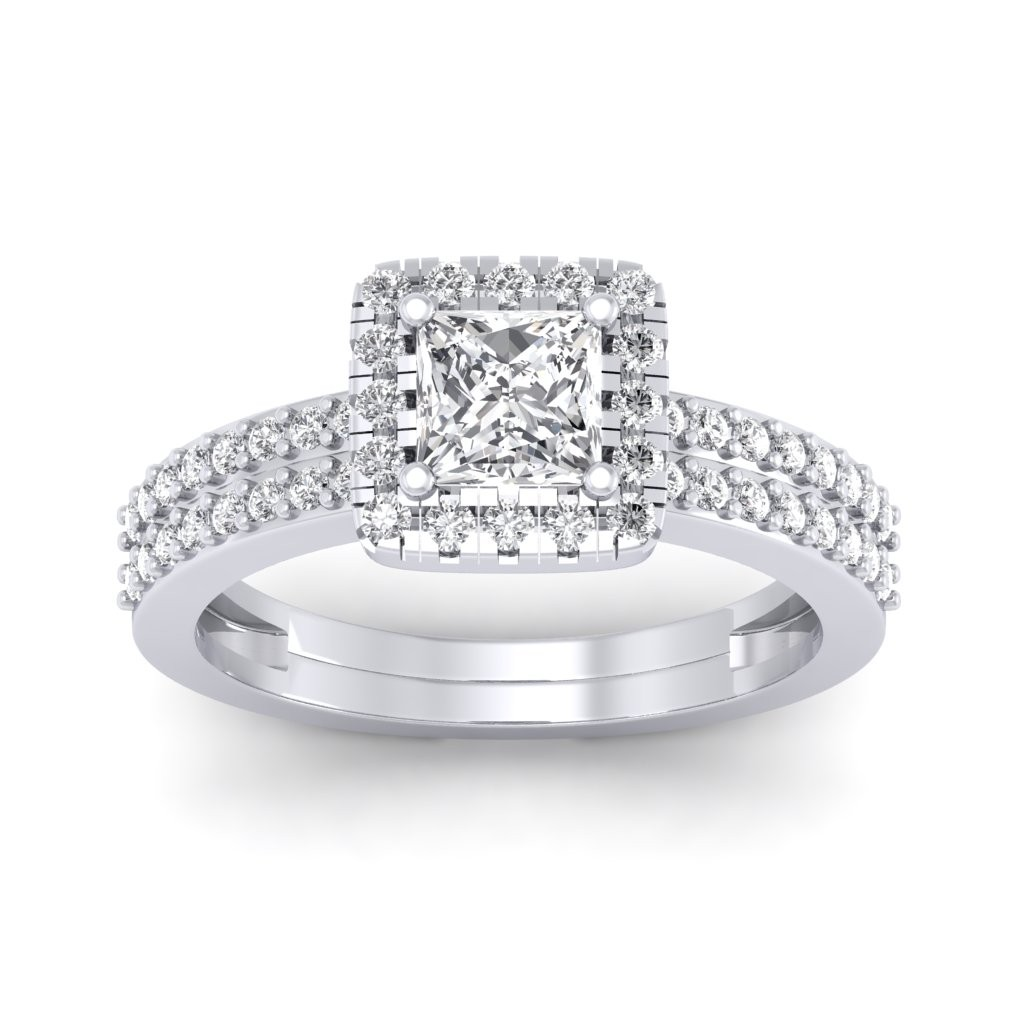 4702a4968c The Dual Band Helena Princess Solitaire Ring - Solitaire Diamond Rings at Best  Prices in India | SarvadaJewels.com
