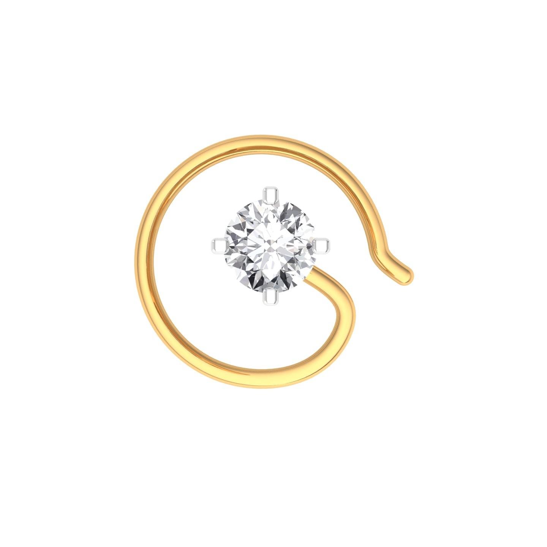The Classic Hook Nose Pin - 0.15 carat