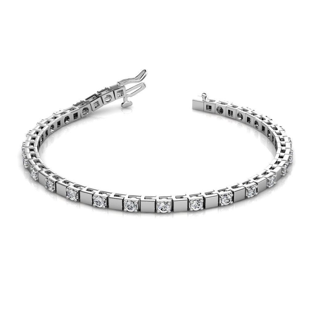 The Rosa Alternating Block Tennis Bracelet - 4 cent diamonds