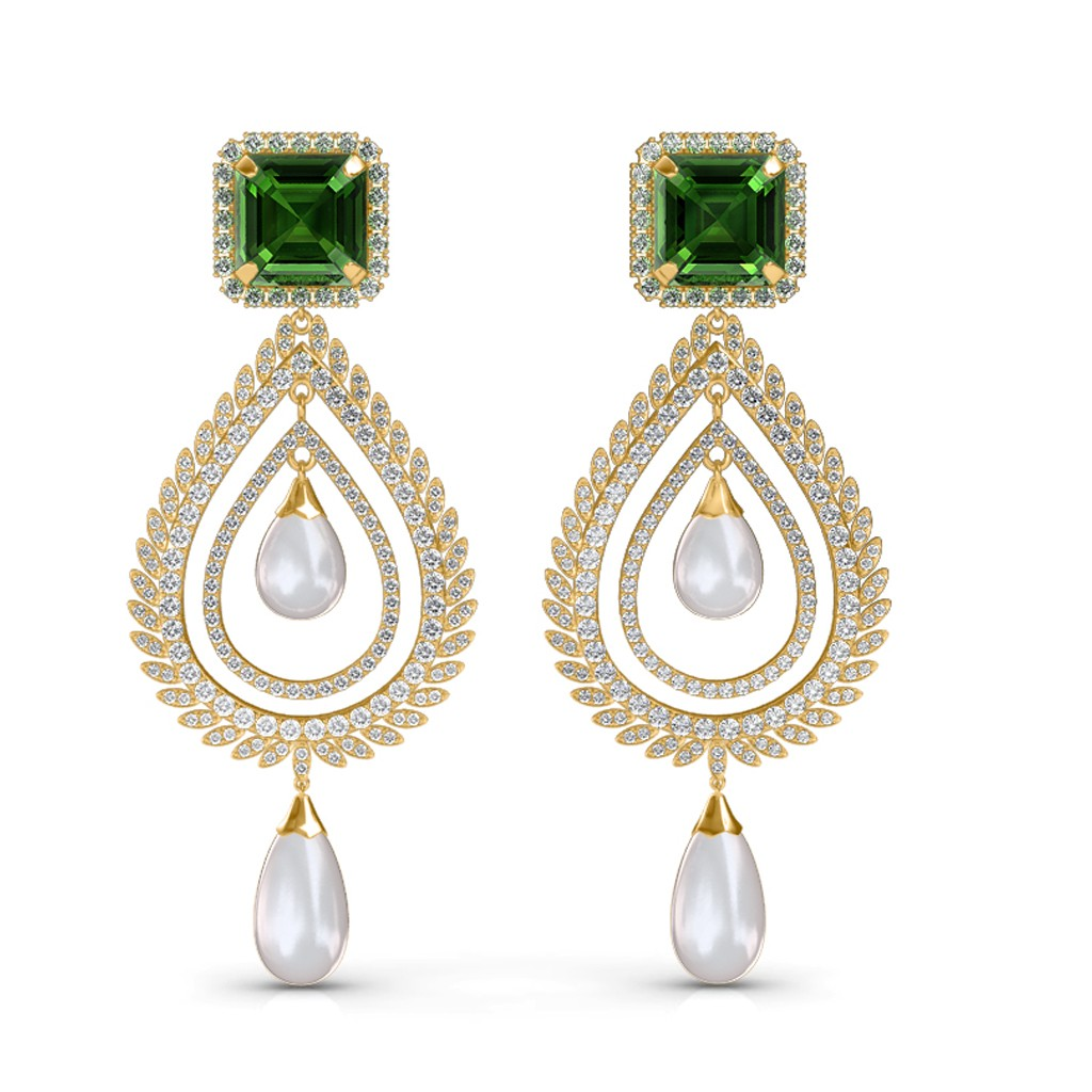 The Celina Chandelier Diamond Earrings