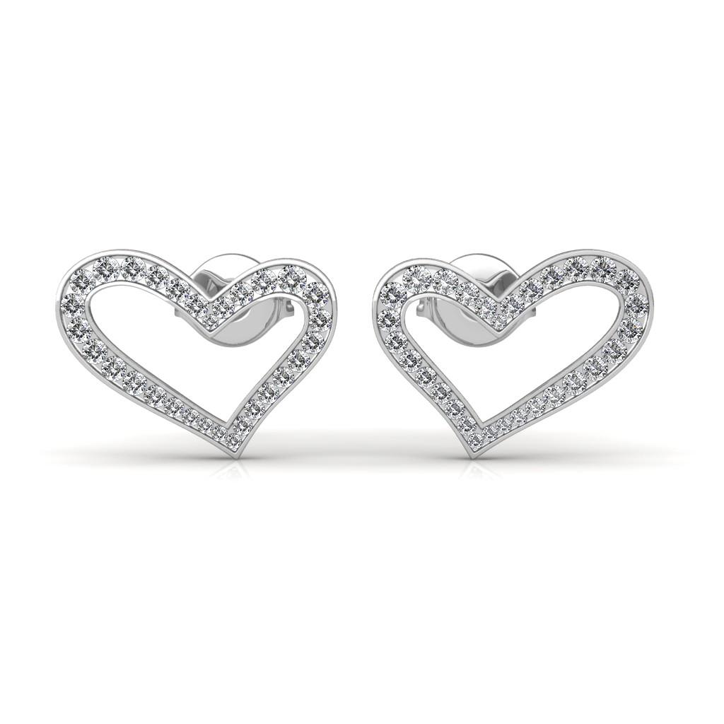 The Eva Heart Earrings