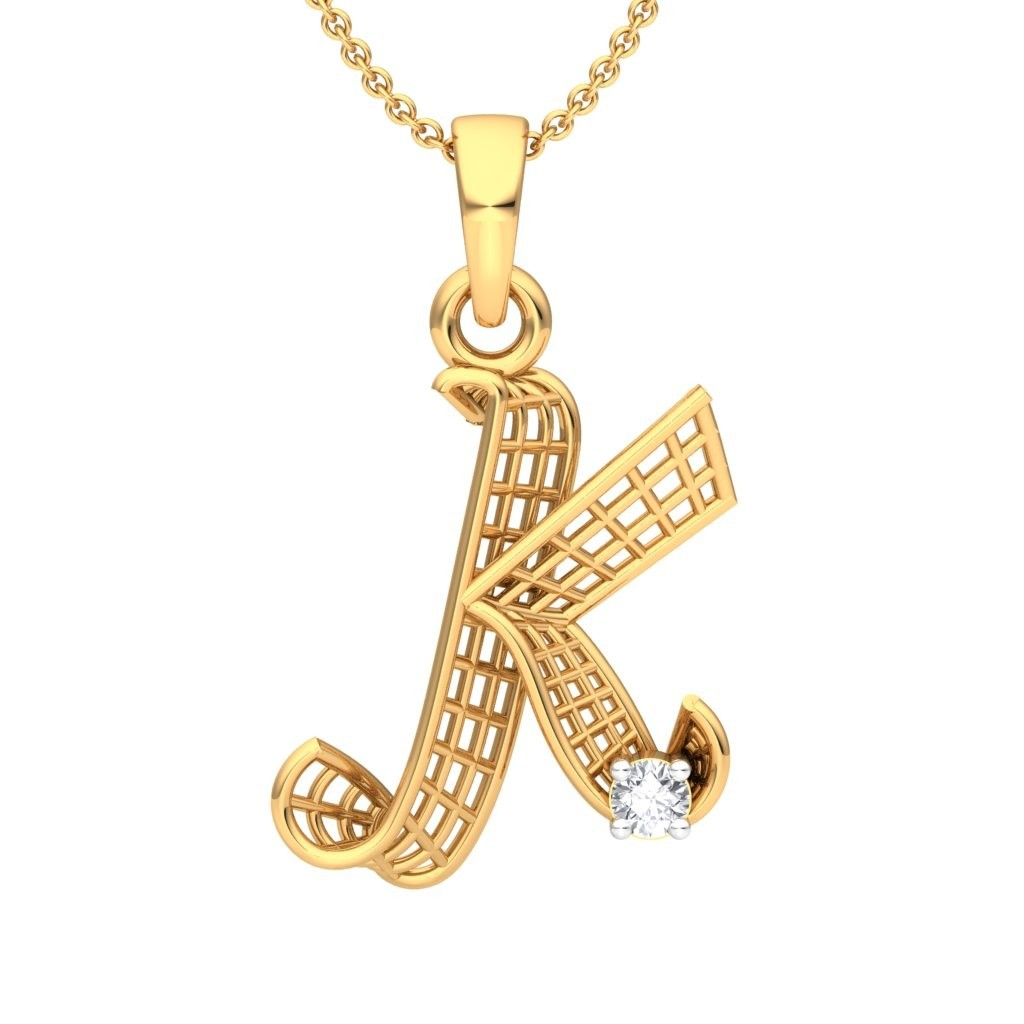 The K Alphabet Pendant