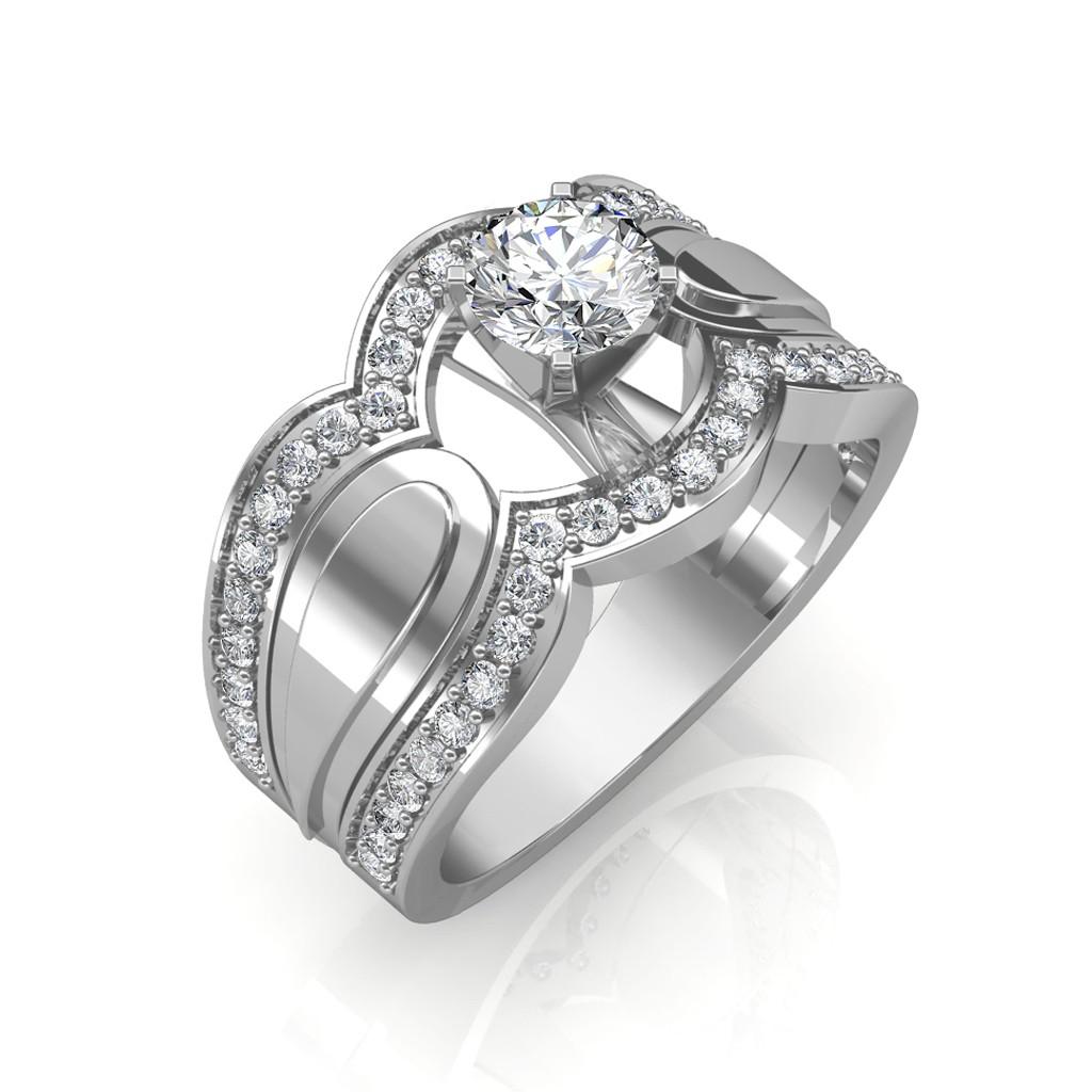0.85 carat Platinum - Utopia Engagement Ring