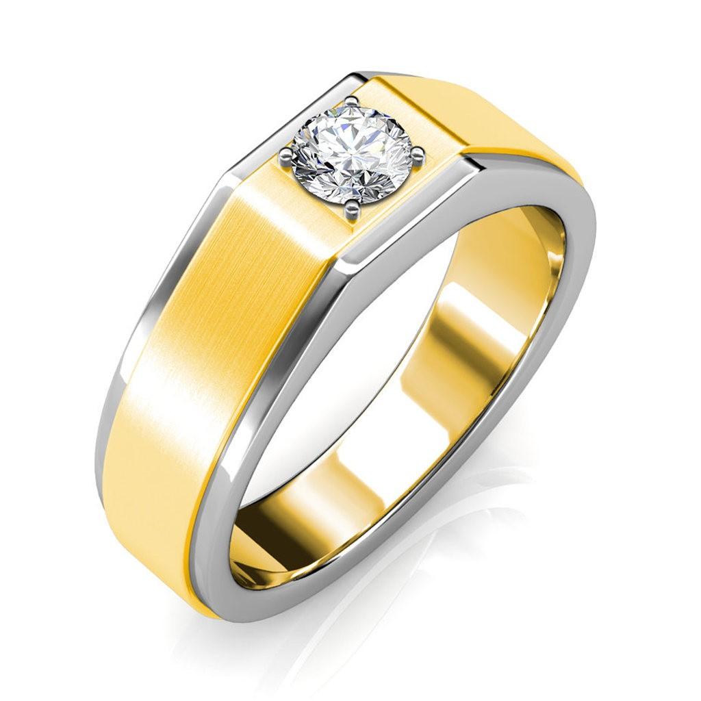 The Gordon ring for him - White - 0.90 carat