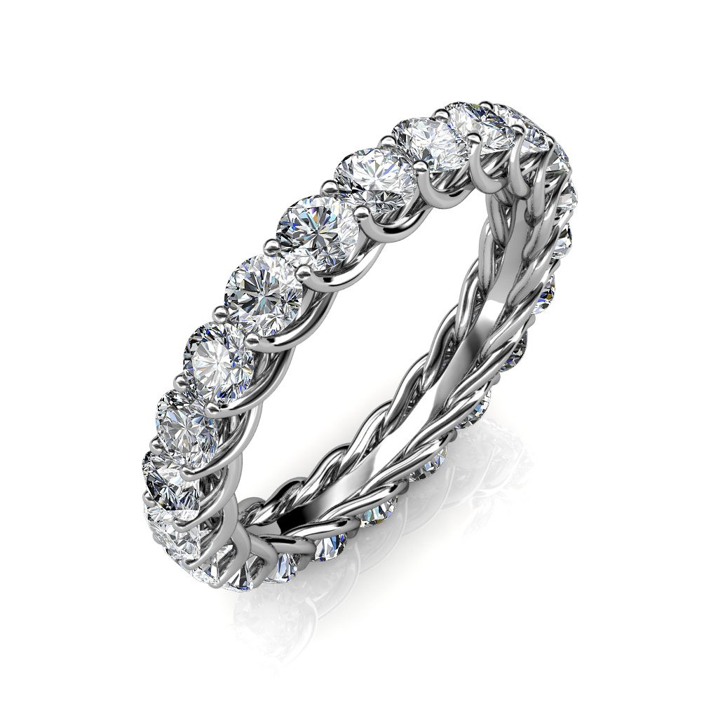 Astraea White Gold Full Eternity Ring - 10 cent diamonds