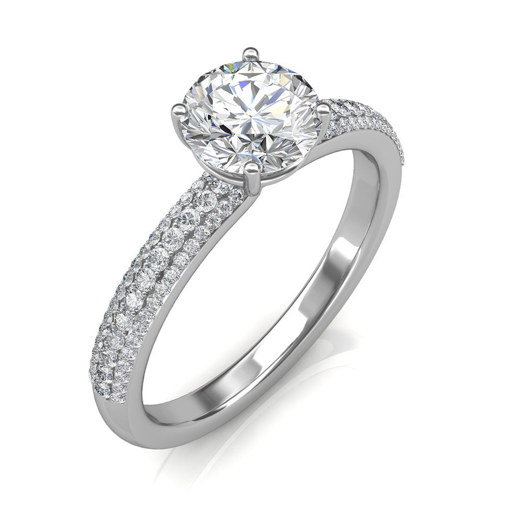 1.65 carat Platinum - Forever Love Engagement Ring