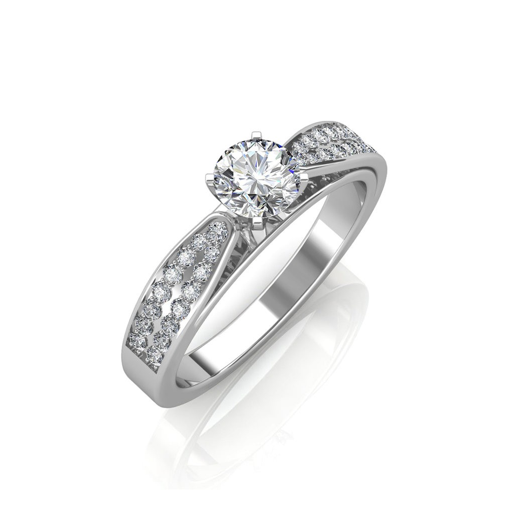 The Dual Band Solitaire Ring