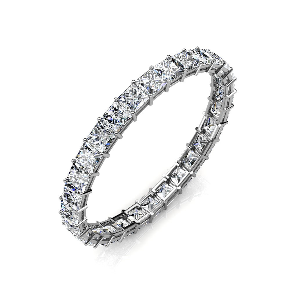 White Gold Calliope Full Eternity Ring - 5 cent diamonds
