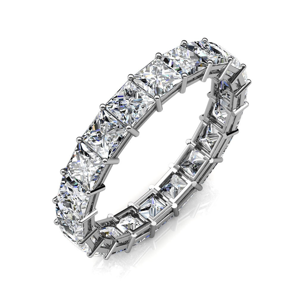 White Gold Calliope Full Eternity Ring - 14 cent diamonds