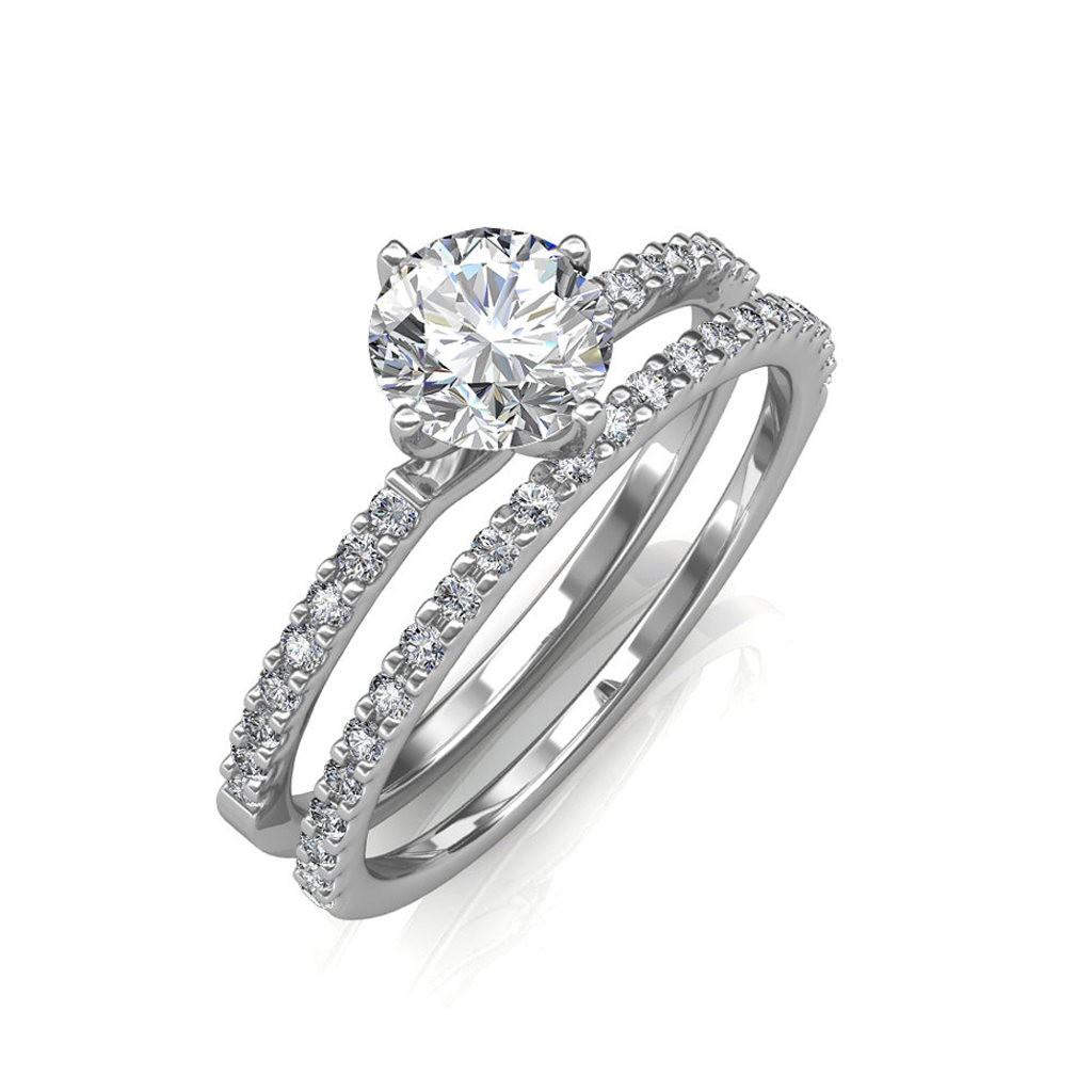 The Elegant Engagement Ring With Wedding Band