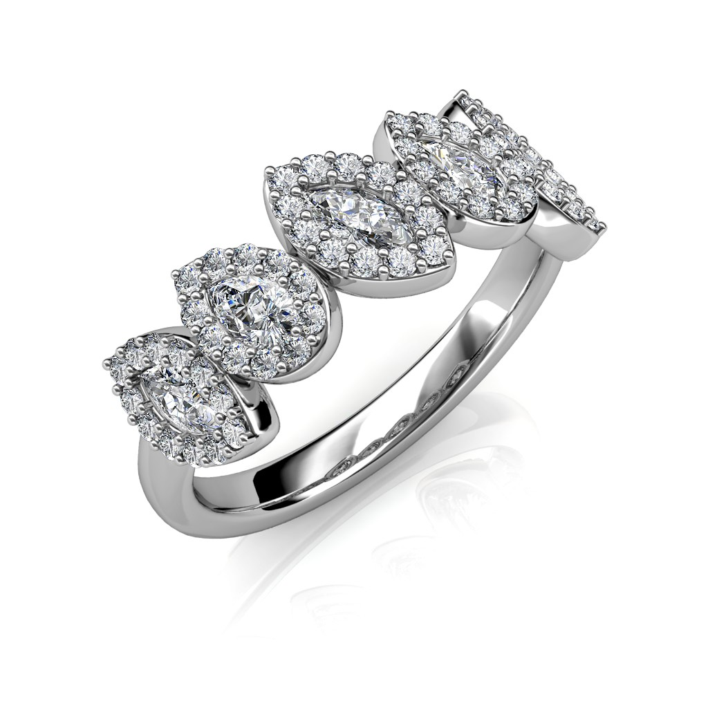 The Pear and Marquise Wedding Ring