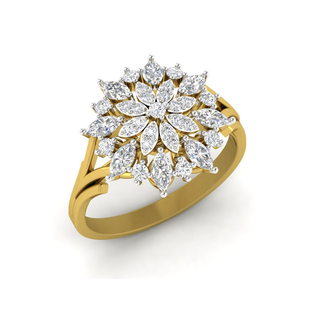 The Lisa Starburst Ring Diamond Jewellery At Best Prices