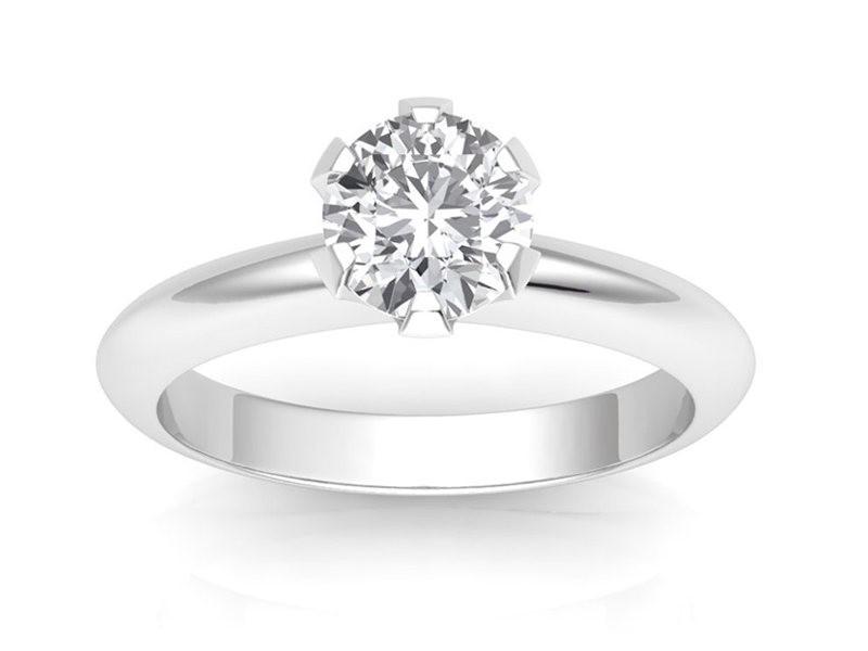 0.30 carat Platinum - Classic Six-Prong /Six-Claw Engagement Ring