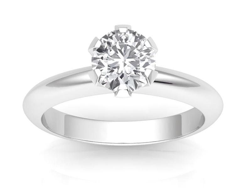 0.50 carat Platinum - Classic Six-Prong /Six-Claw Engagement Ring
